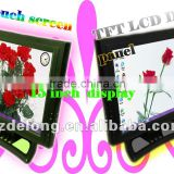 "2012 China New Design 15"" LCD touch panel monitor with 4-wire touch screen,VGA,AV,TV function"