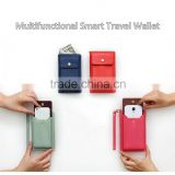 Latest style multifunctional travel passport phone wallet with wrist strap / smart wallet