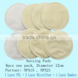 Washable Reusable Super Soft Cloth Bamboo Breast Pad Nursing Pad Wholesale