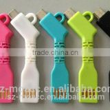 Key chain style two sided for iphone and samsung usb cable