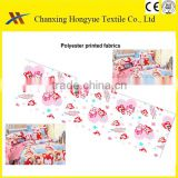 Baby designs Polyester Printed Microfiber peach skin fabric for baby sets/Print designs polyester fabric with textile pictures
