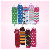 Wholesale Colorful Cotton Warm Baby leggings Striped Ruffles Knitted Sock