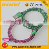 China Suppliers That Accept Paypal Colored Micro USB Cable For Andriod Mobile Phone Fabric Braided USB Cable Wholesale Alibaba