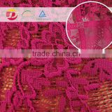 wholesale cheap purple bulk guipure lace fabric 2016 cord lace with stones in alibaba website