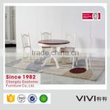 2016 high quality modern brown colored rounded extending dining table