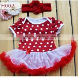 wholesale Fashion polk dot Baby Clothing Set Carters Baby Girl Sets Romper with Tutu Newborn baby Spring Summer Clothes SK-6