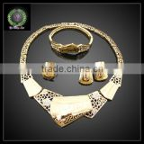 Hot Sale African REAL 24K GOLD PLATED Jewelry Set Wedding Jewelry set Big Jewelry set BHK643
