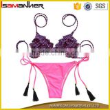 Purple extreme micro mini bikini girl swimwear ladies sexy micro mini bikini                                                                                                         Supplier's Choice