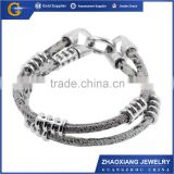 LRB0274 stainless steel jewelry energy bracelet magnetic bracelet silicone bracelet