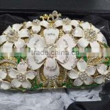 Fashion design crystal beaded evening bags beautiful lady clutches