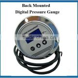 12VDC power back mounted digital pressure gage with led display and panel