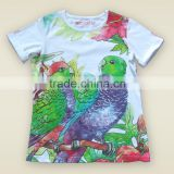 2016 New style 100% cotton water photo print short sleeve girls t-shirt