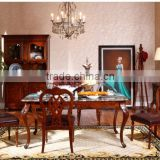wooden dining table and chairs/living room High sideboard/antique home furniture sets for sales AS18