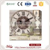 Specialized imitative wood pattern natural beauty brown antique wall clock