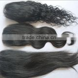 Alibaba express brazilian human hair cheap virgin hair bundles with free parting lace closure