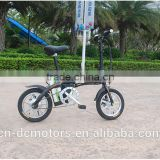 CE Cheap 14 inch Alloy Electric Bike / Bicycle Both For Kids / Adults With Big Capacity 48V12AH Li-Ion Battery