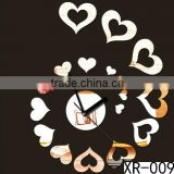 Personalized diy wall clock Heart shaped New DIY Modern Time Design Wall clock decor Room