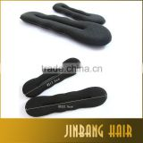 2016 wholesale black magic foam hair curl sponge products hair styling donut bun maker clip roller french twist tool
