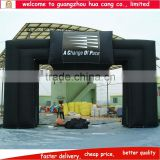 New arrival giant black wide legs advertising inflatable arch for promotion
