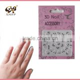 acrylic nail form stickers/beautiful 3d nail sticker/3d flower nail stickers