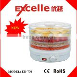 Household 5 Trays Electric Mechanical Mini Food dedydrator, Fruit Dehydrator, Snackmaster Machine