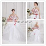 Popular Fashionable Ruffled Embroidery Handmade Flower Wedding Dress Real Sample Quinceanera Dress 07-133