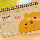 2017 new fashion custom wooden desk calendar from dongguan china