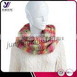 Fashionable custom hand crochet loop scarf neckwarmer infinity knit pashmina scarf factory wholesale sales (accept custom)