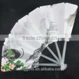mini pp custom printed folding hand fan/custom chinese personalized plastic hand fan