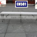 6ft popular white blow molding of folding plastic dining bench for events use from Chinese supplier