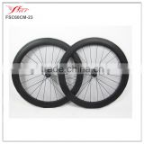 Far Sports carbon track wheels 60mm depth high profile carbon track bike, with fixed gear single speed hub 24H/24H