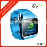 1.5'' Touch Screen plastic wrist watch mp3 player with fm radio Bluetooth, 8 GB Storage Supports TF Card