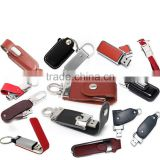 USB flash drive with keychain,Computer company promotional gifts souvenirs,PU leather flash memory