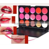 Customize Private Label Lipstick matte15 color charming lip gloss palette,private lable lipgloss makeup kit