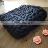 Thick yarn hand knitted Giant Chunky Wool Rug