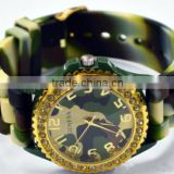 geneva silicone watch,geneva quartz silicone crystal watch