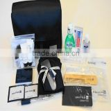 Luxury quality airplane amenities set/airplane cosmetics set/airplane comfort set for first class