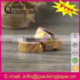 China supply custom printed foil washi tape wholesale for arts and craft