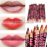 15CM 12 Colors Waterproof Lip Liner Pencil Womens Professional Long Lasting Lipliner Lips Makeup Tools