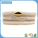 Christian Products Wholesale Grey Guys Leather Bracelets