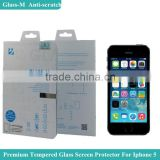 For Iphone 5s Slim 0.15mm Glass-M Tempered Glass Screen Protector Cellphone Protector Retail Packaging