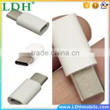 CY USB 3.1 Type C Male to Micro USB 2.0 5Pin Female Data Adapter Connector Converter for Tablet & Mobile Phone White Color