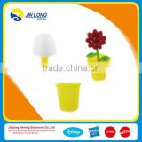 Indoor plastic toy flower pot toy table lampe toy mini trash toy