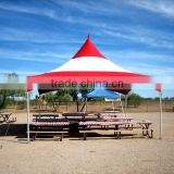 Chinese supplier high quality 6 x 6 m red and white pvc tent , big outdoor wedding tent,swimming pool tent ,canopy ,