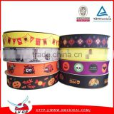 New design cartoon character printed grosgrain ribbon for Holloween Day