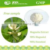 Herbal Supplement Magnolia officinalis extract in plant extract 98% Magnolol and Honokiol for anxiety