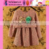 2015 Wholesale Boutique Store Hot Baby Dress Sale Autumn New Design Cheaper Crochet Dress For Baby