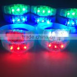 Factory Silicone LED Bracelets , Led Light Bracelets Led Flashing Bracelet , Led Light Wristbands Sound Activated Led Bracelet