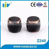 China manufacturer high quality black metal hardware drawer knobs