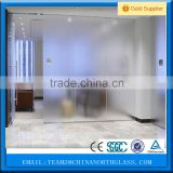 used acid etch frosted bathroom glass partition